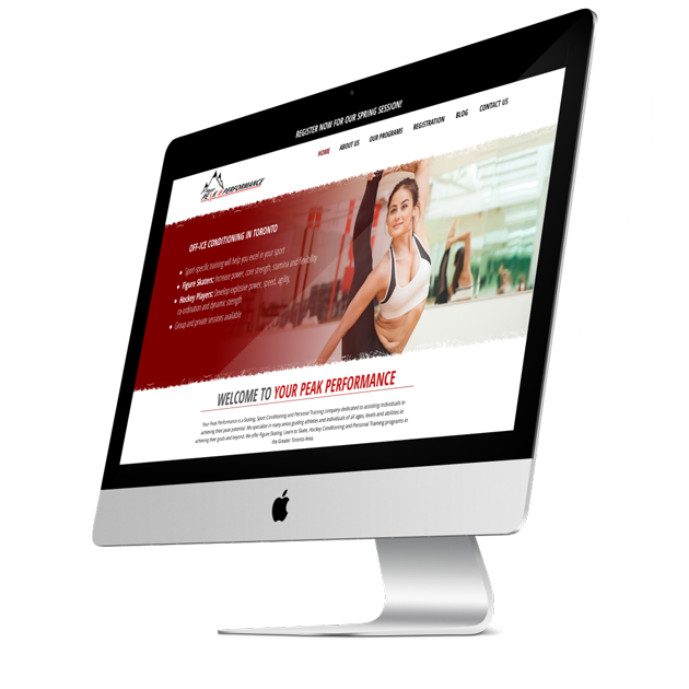 Yourpeakperformance.ca - Hamilton Ontario Web Design